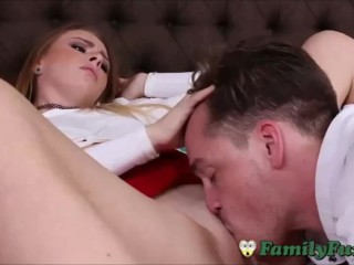 Shy Teen Sister Tries Out Stepbrothers Thick Penis